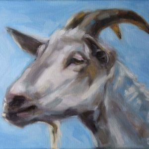 painting of a goat